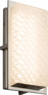 Justice Design FSN-7562W-WEVE-NCKL Fusion Avalon Contemporary Brushed Nickel LED Outdoor Small Light Sconce