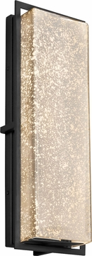 Justice Design FSN-7564W-MROR-MBLK Fusion Avalon Modern Matte Black LED Exterior Large Wall Sconce Lighting