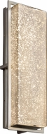 Justice Design FSN-7564W-MROR-NCKL Fusion Avalon Contemporary Brushed Nickel LED Outdoor Large Wall Light Fixture