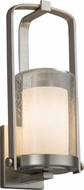Justice Design FSN-7581W-10-OPAL-NCKL Fusion Atlantic Modern Brushed Nickel Exterior Small Light Sconce