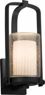 Justice Design FSN-7581W-10-RBON-MBLK Fusion Atlantic Modern Matte Black Exterior Small Lamp Sconce