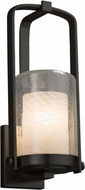 Justice Design FSN-7581W-10-WEVE-MBLK Fusion Atlantic Contemporary Matte Black Outdoor Small Lighting Wall Sconce