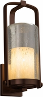 Justice Design FSN-7584W-10-DROP-DBRZ Fusion Atlantic Contemporary Dark Bronze Outdoor Large Wall Sconce Lighting