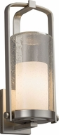 Justice Design FSN-7584W-10-OPAL-NCKL Fusion Atlantic Modern Brushed Nickel Exterior Large Wall Sconce Light