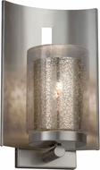 Justice Design FSN-7591W-10-MROR-NCKL Fusion Embark Contemporary Brushed Nickel Outdoor Lamp Sconce