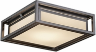 Justice Design FSN-7629W Fusion Bayview Modern LED Outdoor Ceiling Light