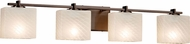 Justice Design FSN-8444 Fusion Era Modern 4-Light Bathroom Sconce
