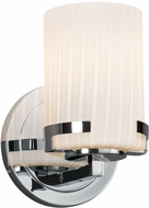 Justice Design FSN-8451-10-RBON-CROM Fusion Atlas Modern Polished Chrome Wall Sconce Lighting
