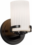 Justice Design FSN-8451-10-RBON-MBLK Fusion Atlas Modern Matte Black Lighting Wall Sconce