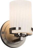 Justice Design FSN-8451-10-RBON-NCKL Fusion Atlas Contemporary Brushed Nickel Wall Lighting Sconce