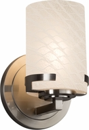 Justice Design FSN-8451-10-WEVE Fusion Atlas Modern Wall Sconce Lighting