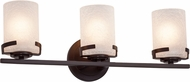 Justice Design FSN-8453 Fusion Atlas Contemporary 3-Light Bathroom Vanity Light