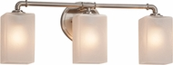 Justice Design FSN-8463 Fusion Bronx Contemporary 3-Light Bath Sconce
