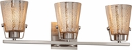 Justice Design FSN-8483-MROR Fusion Nexus Contemporary 3-Light Bath Wall Sconce