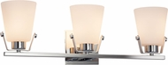 Justice Design FSN-8483-OPAL Fusion Nexus Modern 3-Light Bathroom Light Sconce