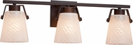 Justice Design FSN-8483-WEVE Fusion Nexus Contemporary 3-Light Bathroom Lighting Sconce