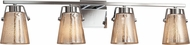 Justice Design FSN-8484 Fusion Nexus Modern 4-Light Bathroom Sconce Lighting
