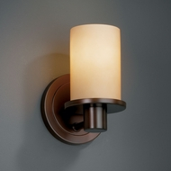 Justice Design FSN-8511 Fusion� Artisan Glass 5.25  Wide Wall Sconce Lighting