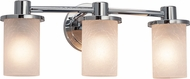 Justice Design FSN-8513-10 Fusion Rondo Modern 3-Light Bath Lighting Sconce