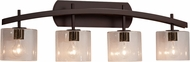 Justice Design FSN-8594 Fusion Archway Modern 4-Light Bathroom Wall Light Fixture