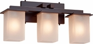 Justice Design FSN-8673-15 Fusion Montana Contemporary 3-Light Bathroom Lighting
