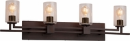 Justice Design FSN-8704 Fusion Aero Contemporary 4-Light Bath Lighting