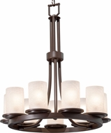 Justice Design FSN-8766-10-FRCR Fusion Dakota Modern Mini Chandelier Lighting