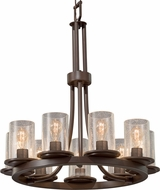 Justice Design FSN-8766-10-SEED Fusion Dakota Contemporary Mini Lighting Chandelier