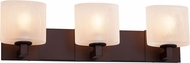 Justice Design FSN-8923 Fusion Modular Modern 3-Light Vanity Lighting