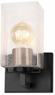Justice Design FSN-8941-15-SEED-MBBR Fusion Vice Modern Matte Black w/ Brass Socket Cover LED Wall Light Sconce