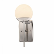 Justice Design FSN-8961-OPAL-CROM Fusion Epoch Contemporary Polished Chrome LED Wall Sconce Light