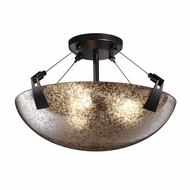 Justice Design FSN-9631-35 Fusion Tapered Clips Contemporary Flush Mount Lighting Fixture