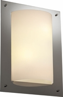 Justice Design FSN5563 Ada Framed Contemporary Fluorescent 4-Sided Rectangular Wall Sconce with Curved Light