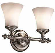 Justice Design FSN-8522-20 Fusion Traditional Round Flared 2-Light Bathroom Wall Sconce