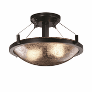 Justice Design FSN-9680-35 Fusion Ring Modern Round Overhead Lighting Fixture