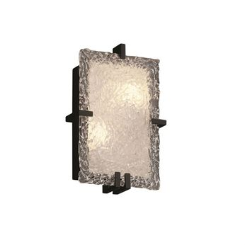 Justice Design GLA-5551-LACE Veneto Luce Clips Contemporary Rectangle Wall Mounted Lamp