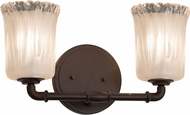 Justice Design GLA-8462 Veneto Luce Bronx Modern 2-Light Bathroom Vanity Light
