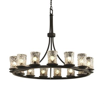 Justice Design GLA-8715-16 Veneto Luce Dakota Contemporary Chandelier Light