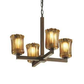 Justice Design GLA-8829 Veneto Luce Modular Contemporary Mini Chandelier Lighting