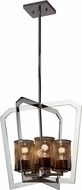 Justice Design MSH-8014-10-CROM Wire Mesh Aria Modern Polished Chrome Foyer Light Fixture