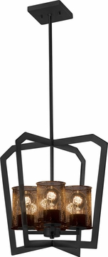 Justice Design MSH-8014-10-MBLK Wire Mesh Aria Modern Matte Black Entryway Light Fixture