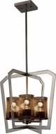 Justice Design MSH-8014-10-NCKL Wire Mesh Aria Contemporary Brushed Nickel Foyer Lighting