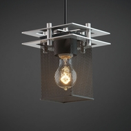 Justice Design MSH-8165 Wire Mesh Modern Mini Pendant Hanging Light