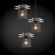 Justice Design MSH-8166 Wire Mesh Contemporary Multi Hanging Light Fixture