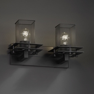 Justice Design MSH-8172 Wire Mesh Contemporary 2-Light Bathroom Sconce