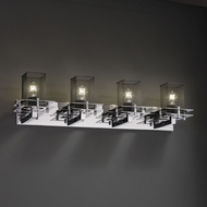 Justice Design MSH-8174 Wire Mesh Contemporary 4-Light Vanity Light Fixture
