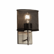 Justice Design MSH-8411 Wire Mesh Union Contemporary Wall Sconce Lighting