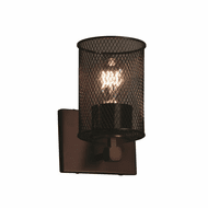 Justice Design MSH-8421 Wire Mesh Tetra Modern Wall Lighting Sconce