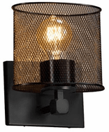 Justice Design MSH-8427-30 Wire Mesh Tetra Modern Wall Sconce Lighting