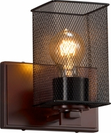 Justice Design MSH-8441 Wire Mesh Era Contemporary Wall Light Sconce